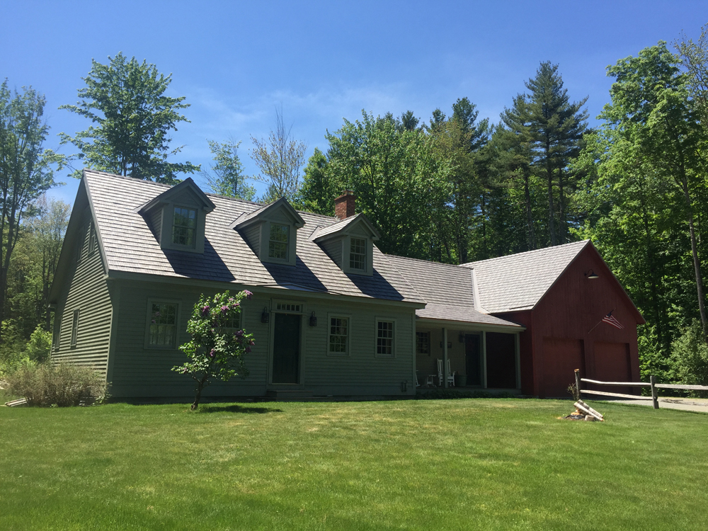Enviroshake roof installation in Londonderry, Vermont